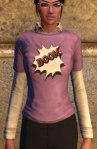 T-shirt and shirt combo, pastel purple