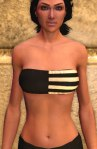 Tube bra, white with black stripes