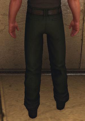 Baron Samedi Pants, green (Back)